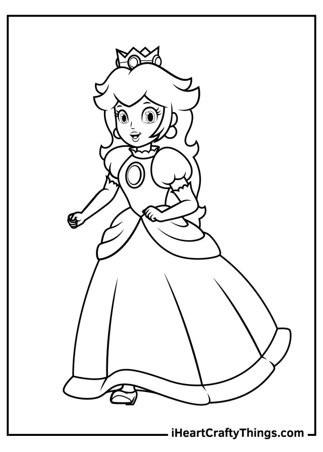 Printable Princess Peach Coloring Pages (Updated 22)