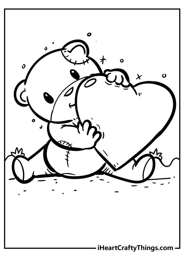 Heart Coloring Pages - Unique Designs To Color (18)