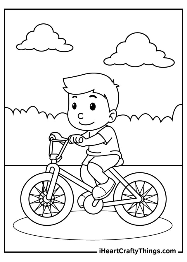 Bicycles Coloring Pages (Updated 21)