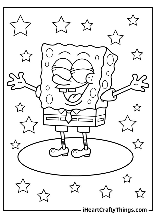 Cute Spongebob Coloring Pages (Updated 24)