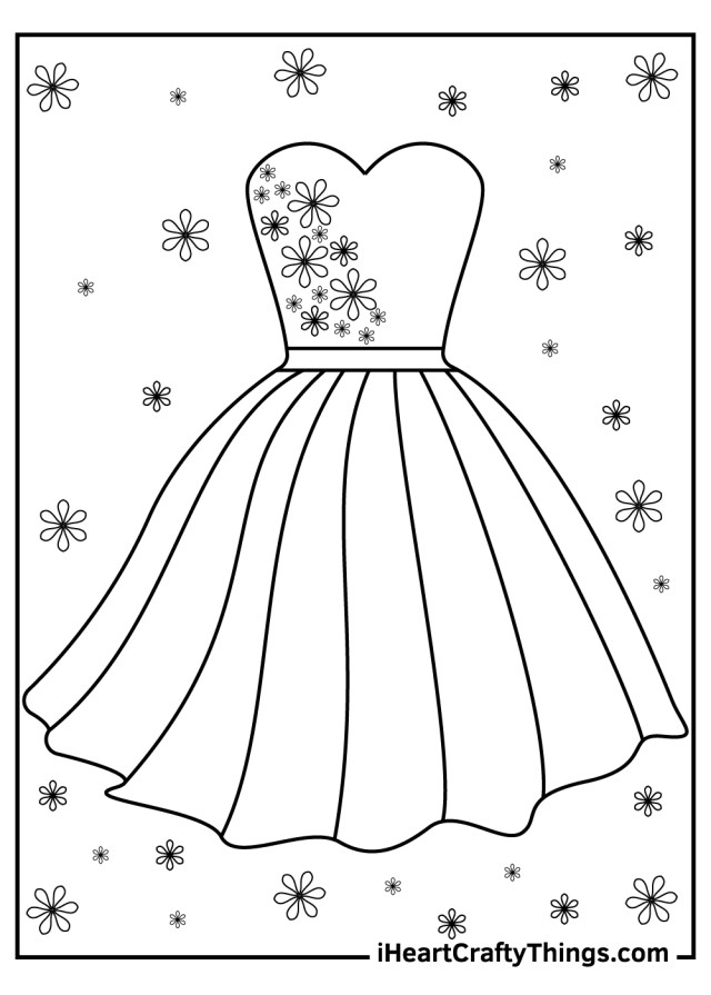 Printable Dress Coloring Pages (Updated 21)