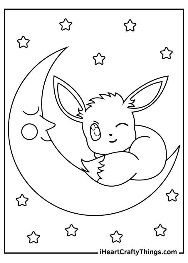 Printable Eevee Pokemon Coloring Pages (Updated 17)
