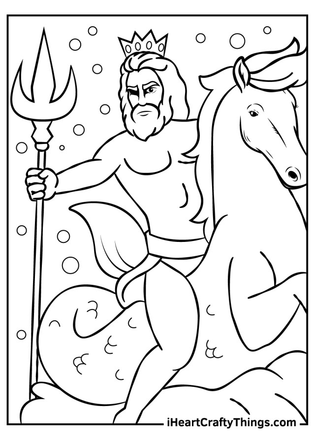 Printable Fantasy And Mythology Coloring Pages (Updated 23)