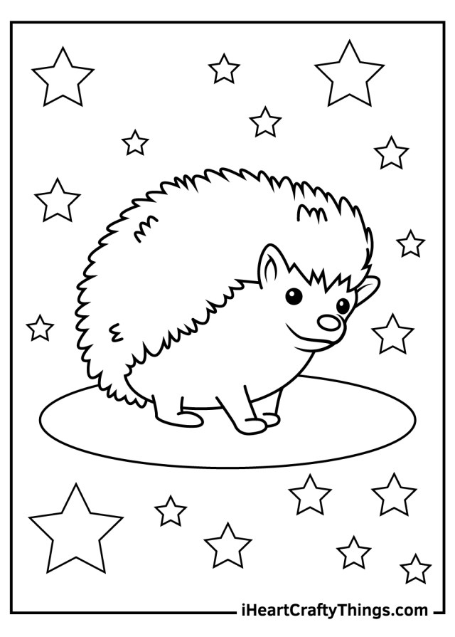 Hedgehog Coloring Pages (Updated 15)