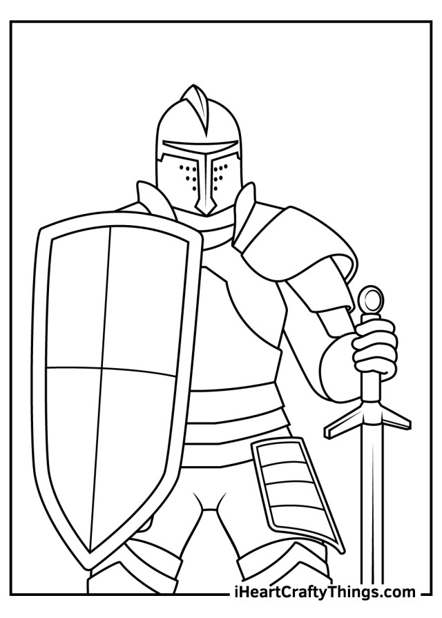 Knight Coloring Pages (Updated 22)