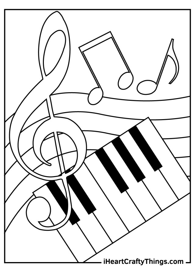 Printable Music Coloring Pages (Updated 29)