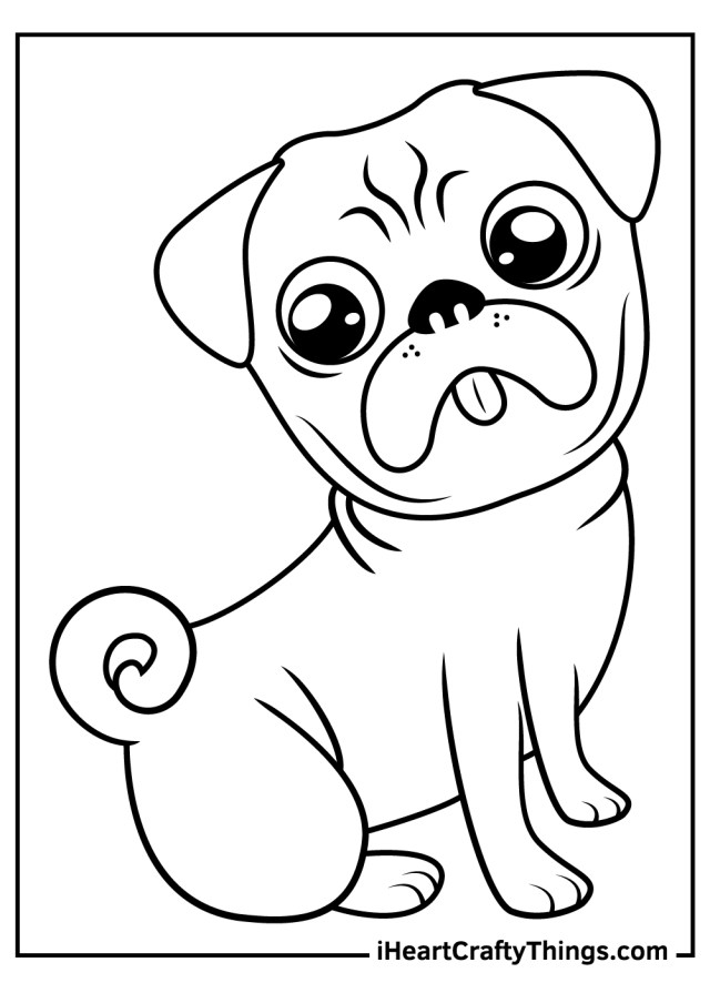 Pug Coloring Pages (Updated 9)
