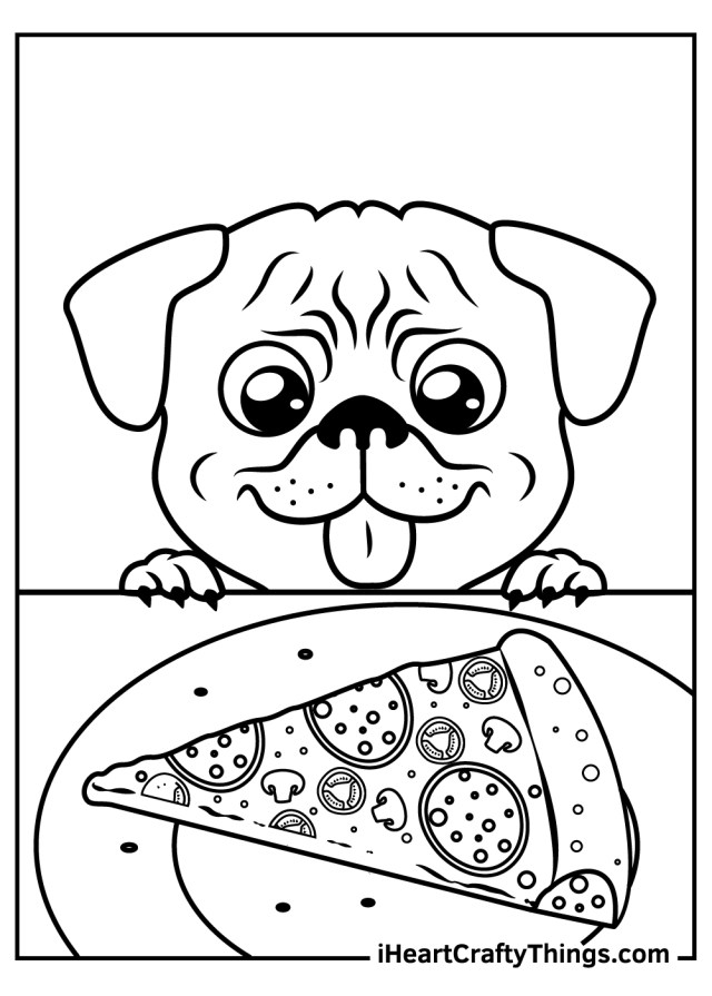 Pug Coloring Pages (Updated 29)