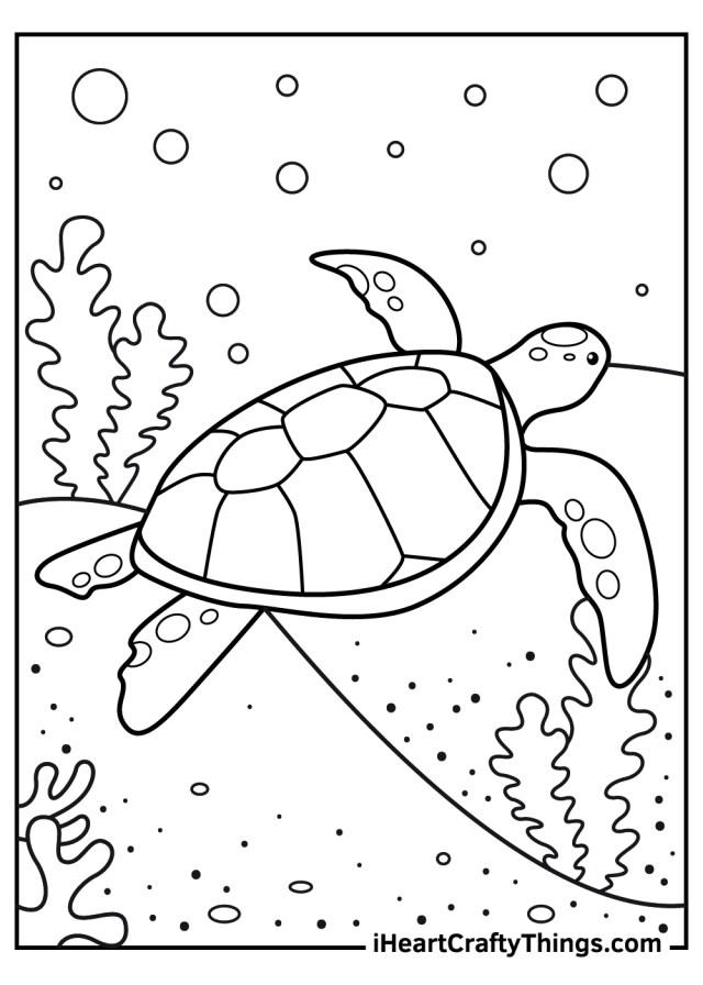 Sea Turtle Coloring Pages (Updated 20)