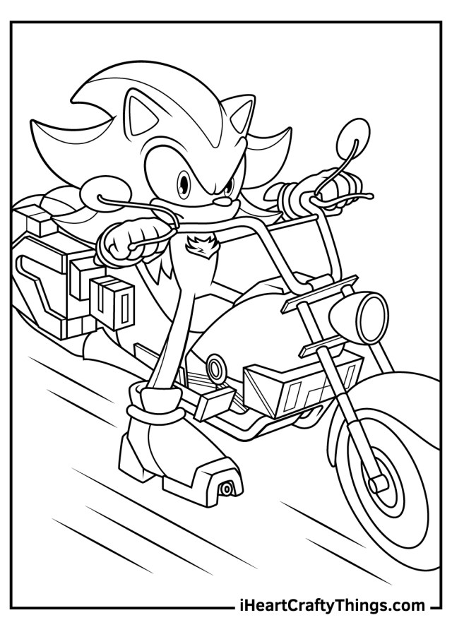 Shadow The Hedgehog Coloring Pages (Updated 20)