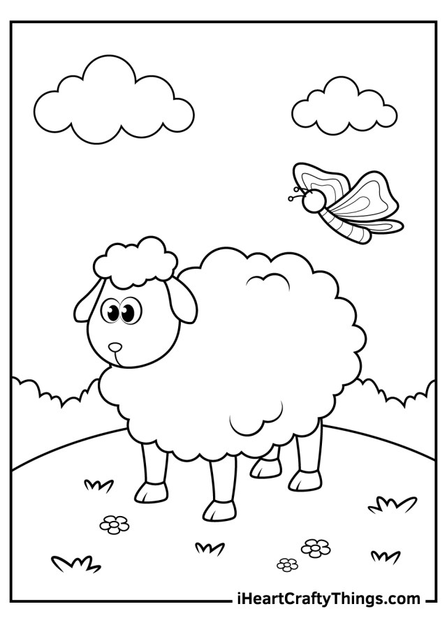 Printable Sheep Coloring Pages (Updated 20)