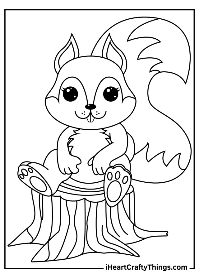 Printable Squirrels Coloring Pages (Updated 27)