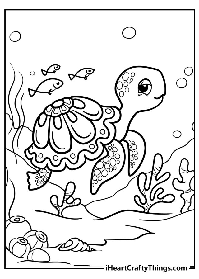 Turtle Coloring Pages (Updated 14)