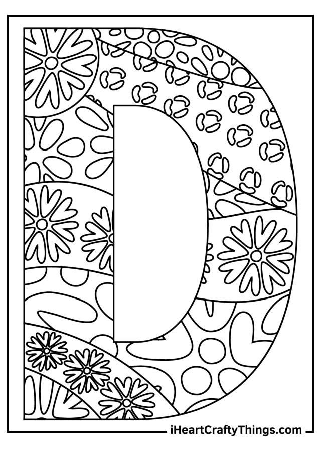 Letter D Coloring Pages (Updated 24)