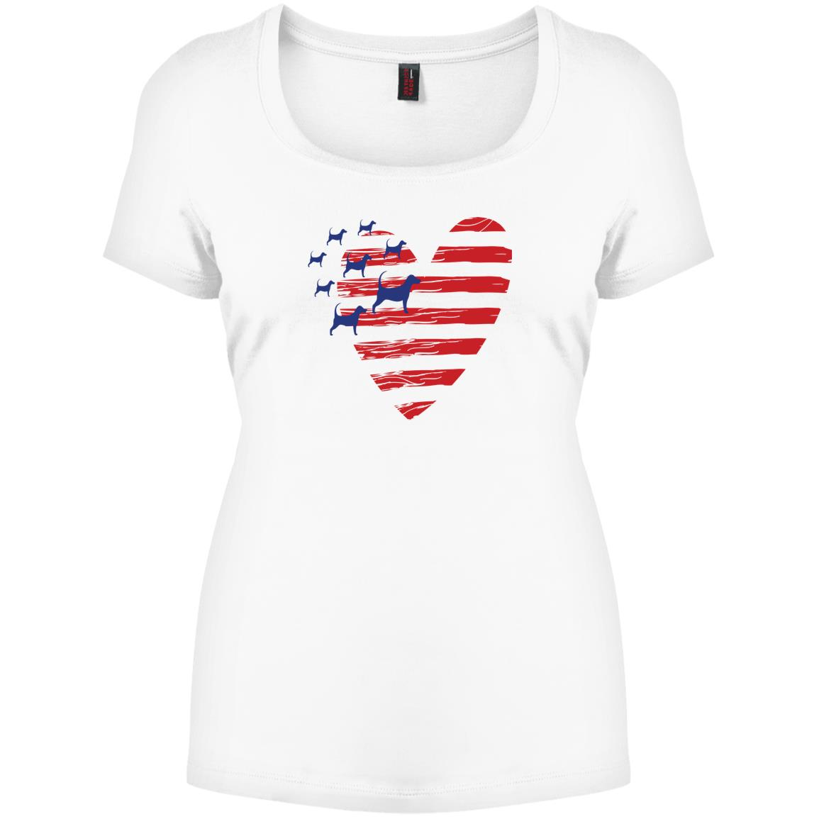 Heart Of America Relaxed Fit White Tee