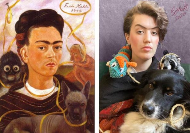 Frida Kahlo recreation