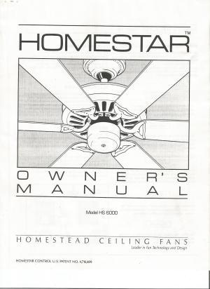 Homestead Ceiling Fan Manual  Ceiling Fans Ideas