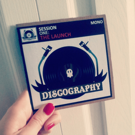 Official Discography launch invite