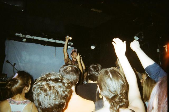 Rich Aucoin live at This Ain't Hollywood. Photo by Grant Winestock with disposable camera.