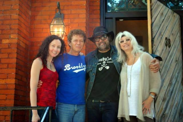 Amy King, Bob Doidge, Dan Lanois, Emmy-lou Harris. Photo taken from Grant Avenue's Facebook page.