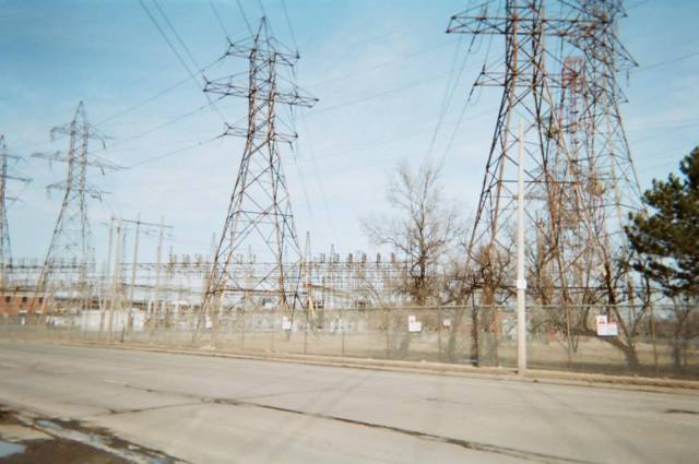 Industrial sector in the east end. Taken with disposable camera.