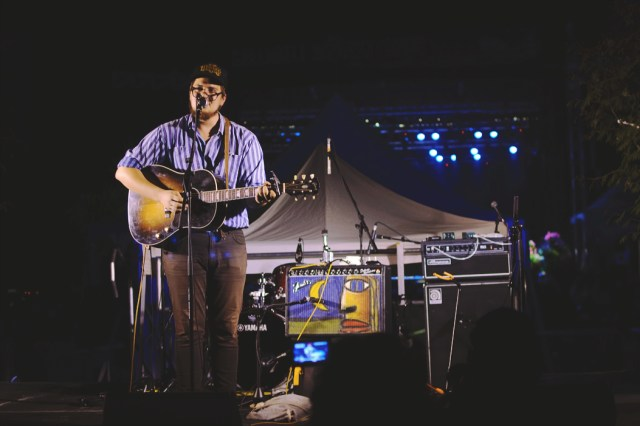 Thompson Wilson performing at Harvest Picnic 2015