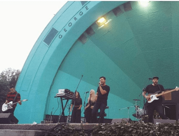Young Empires performing at A Midsummer's Dream 2015 in Hamilton