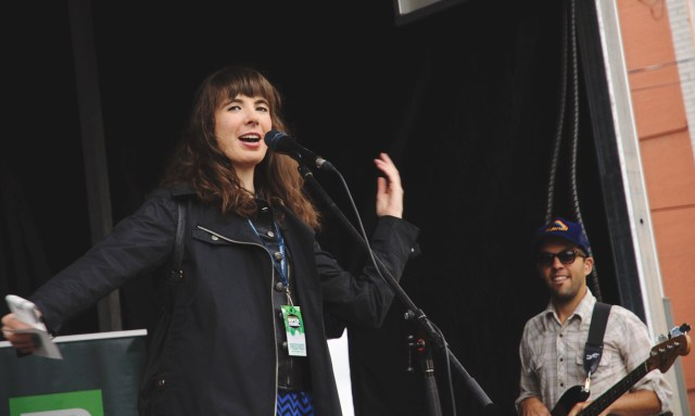 Kristin Archer introducing High Kites at Supercrawl 2015