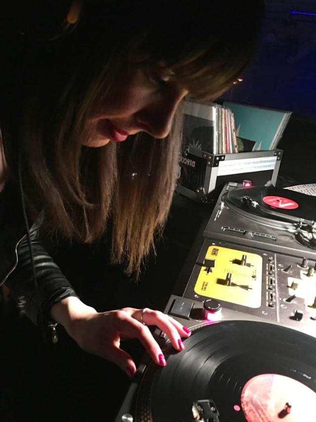 Kristin Archer DJing