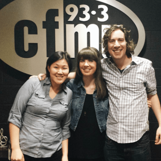 Esther Huh, Kristin Archer, David Brennan at 93.3 CFMU