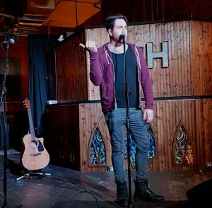 Johnny Salib of Oasis Love performing at The Baltimore House Open Mic