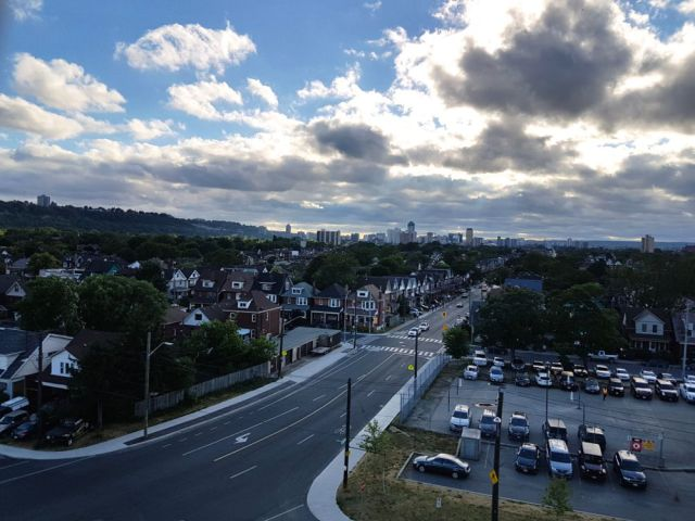 View of Hamilton from Tim Hortons Field