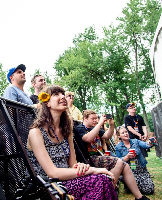 Kristin watching Joel Plaskett Emergency. Photo by Lisa Vuyk