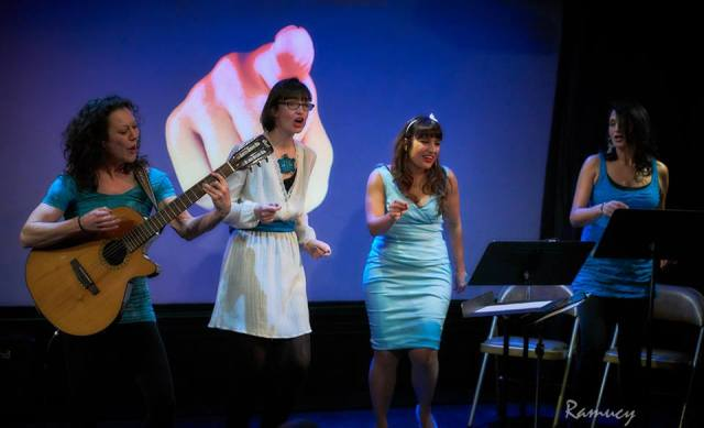 Pamela, Hanna, Mary, Radha performing at Queens of Quirk