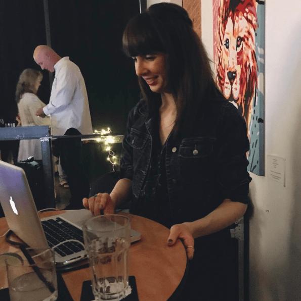 Kristin Archer DJing at Mills Hardware