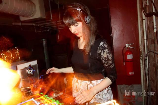 DJing Baltimore House. Photo by Julie Fazooli
