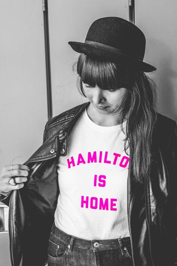 Kristin Archer in Hamilton Has Heart charity tee by Milli x True Hamilonian. Photo by Kayla Da Silva.