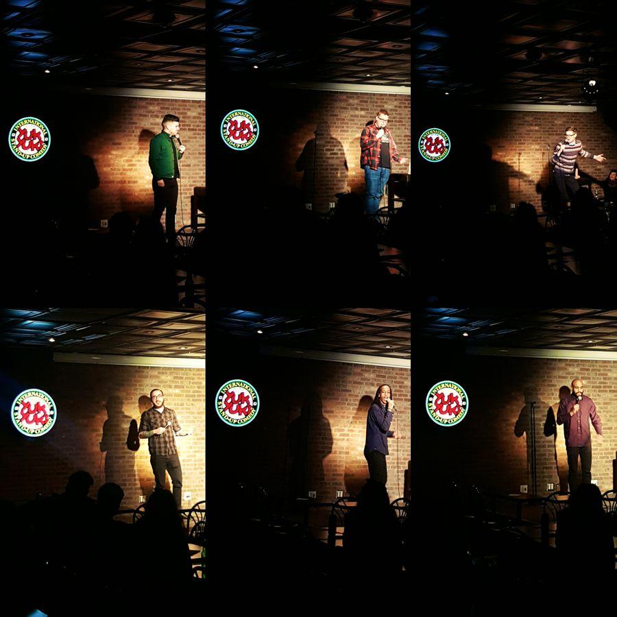 Performing at Yuk Yuks Hamilton. Zak McDonald, Jordan Scherer, Kev Sheeler, Isi Commisso, Black Zeus, Michael Moses