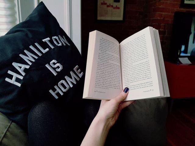 Kristin reading at AIrbnb Hamilton