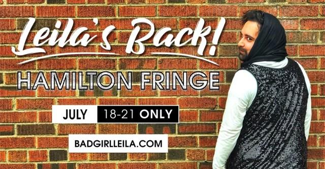 Leila Live at Hamilton Fringe Festivall