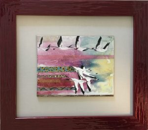 Flamingos framed - Paola Bari
