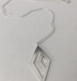 Geometric Diamonds Necklace