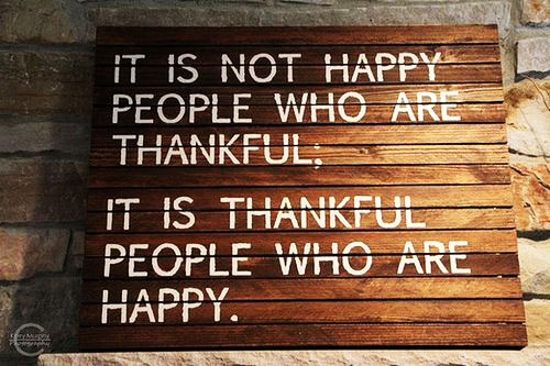 thankful, gratitude