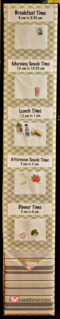 Visual Toddler Mealtime Schedule and Menu Board