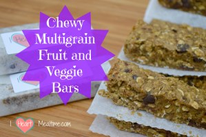 Chewy Multigrain Fruit and Veggie Bars