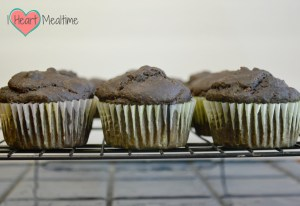 Double Chocolate Chip Kale Muffins on the Cooling Rack