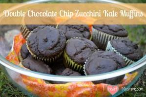 Double Chocolate Chip Zucchini Kale Muffins