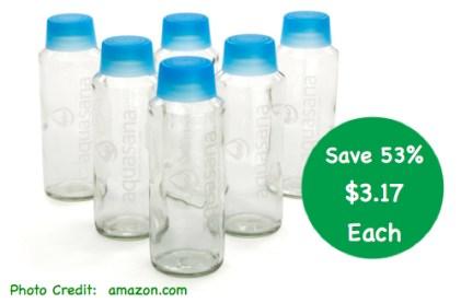 Aquasana 18-Ounce Glass Water Bottles