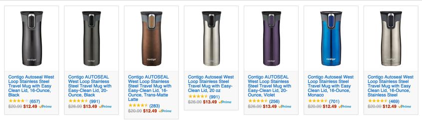 Amazon Deal of the Day - Contigo Autoseal Stainless Steel Travel Mug Sale