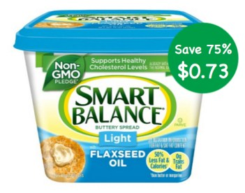 Smart Balance Buttery Spread Coupon Deal at Publix for $0.73!
